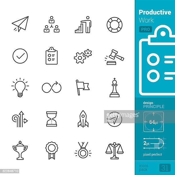 La productividad en el trabajo vector de iconos-PRO pack