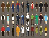 Profession People set. Vector illustrations