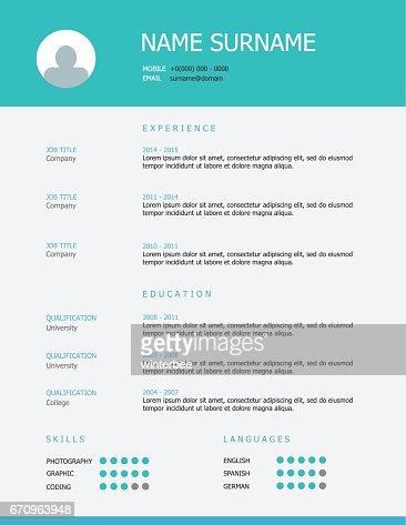 Professional Resume Template Design Vector Art Thinkstock