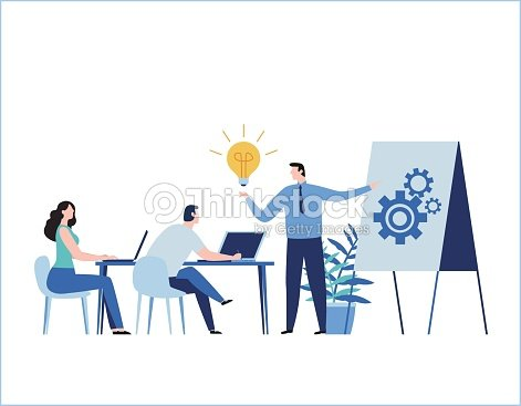 Professional training flat vector illustration. education business concept. tutorial presentation course. Expertise, skill development design for banner mobile and web online graphics : stock vector