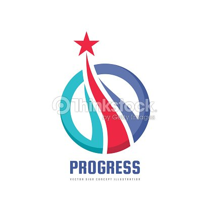 Progress Abstract Vector Sign Design Elements With Star Sign