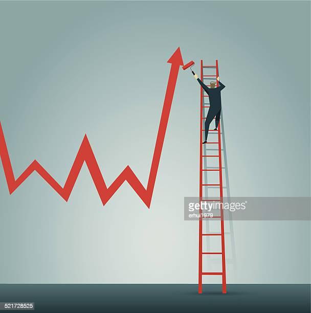 Fortschritt, Strategie, planen, Farbe, Personen, Treppe