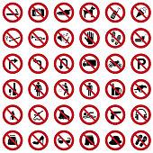 Prohibited icons
