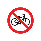 Prohibiting a sign, prohibiting movement on a bicycle or entrance with a bicycle