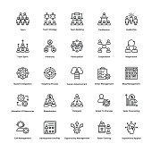 If you were just about giving up and thinking of hiring a professional to create marvelous project management icons for your designs, then good save! This Project Management Line Vector Icons set is j