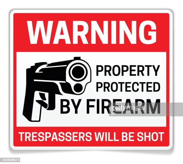 Property Protected by Firearms Warning Sign