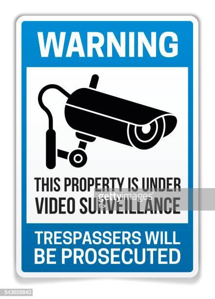 Établissement sous Surveillance vidéo panneau d'avertissement