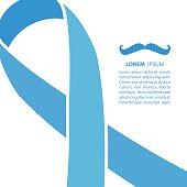 Prostate cancer ribbon. Prostate cancer background. Vector illustration.