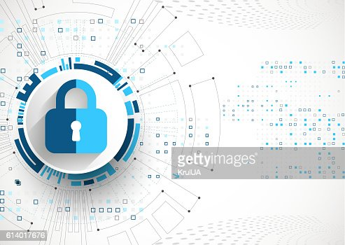 Protection concept. Protect mechanism, system privacy. : Vector Art