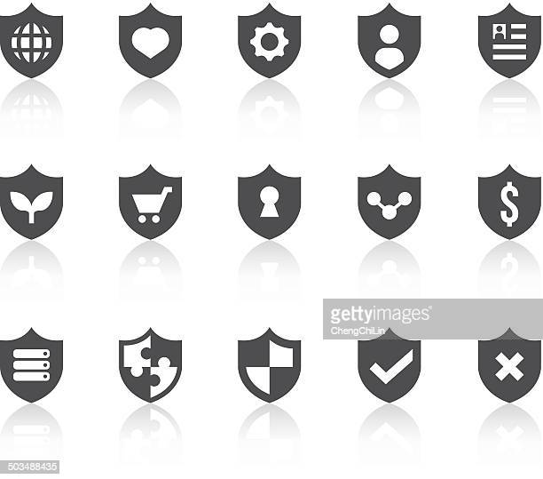 Protection Icons | Simple Black Series