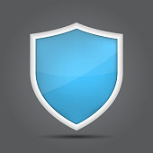 Protection shield concept. Safety badge icon. Defense symbol icon. Vector