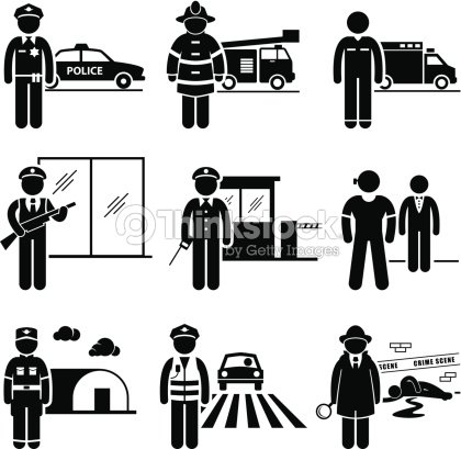 Public Safety And Security Jobs Occupations Careers Vector