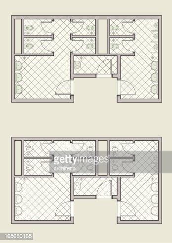 Public Toilet Architectural Plan Vector Art Getty Images