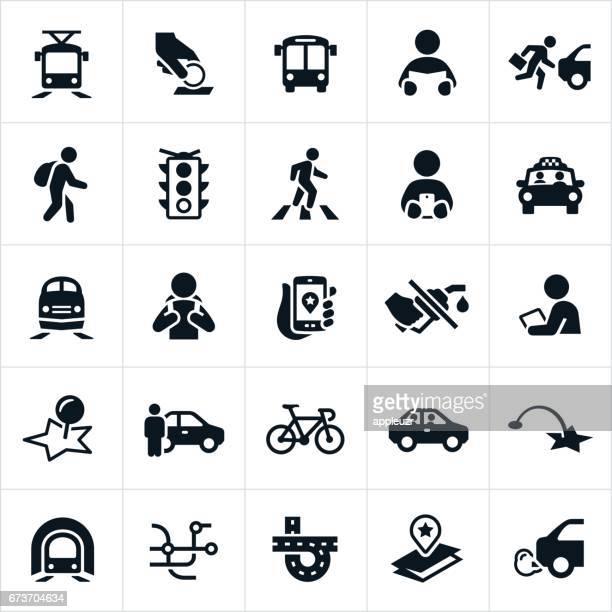 Öffentliche Verkehrsmittel-Symbole