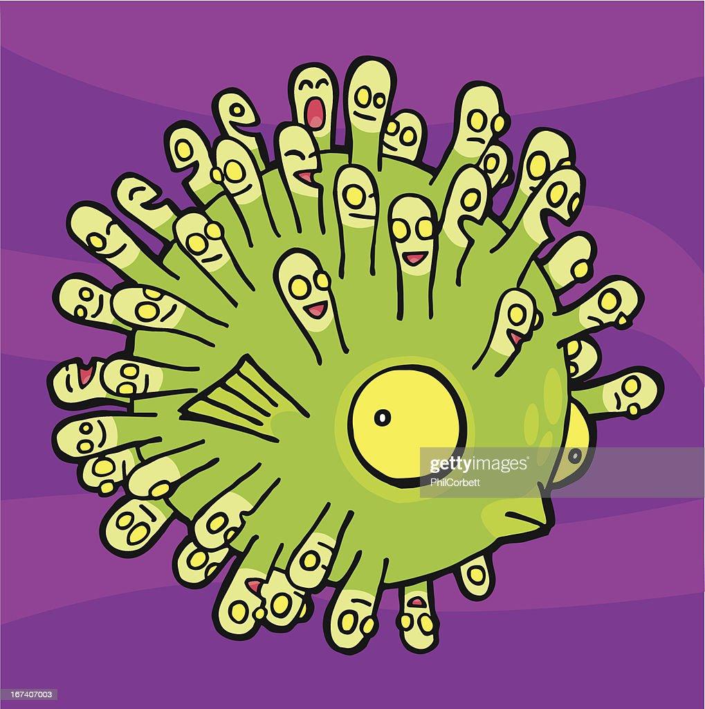 Pesce palla : Arte vettoriale