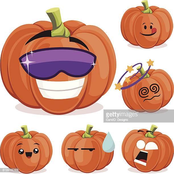 Pumpkin Cartoon Set A