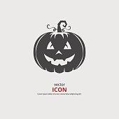 Happy halloween pumpkin face icon. Vector illustration