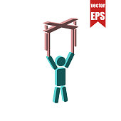 Puppeteer isometric icon.Vector illustration.