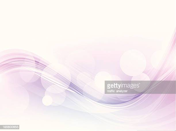 Purple abstract waves, transparency gradient