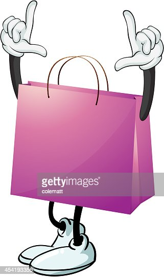 Bolsa roxa : Arte vetorial