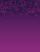Purple christmas background with snowflakes and stars, vector illustration