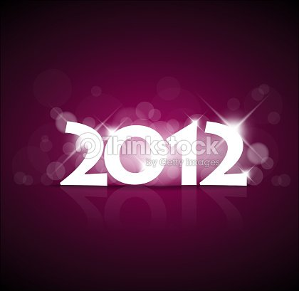 purple new year card 2012 with back light vector art