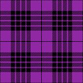 Purple and black seamless traditional tartan plaid pattern design.