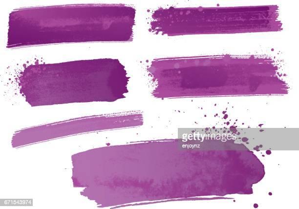 Lila Aquarellfarbe Striche