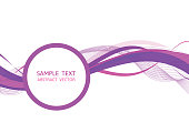 Purple wave abstract vector background Graphic Design with copy space.
