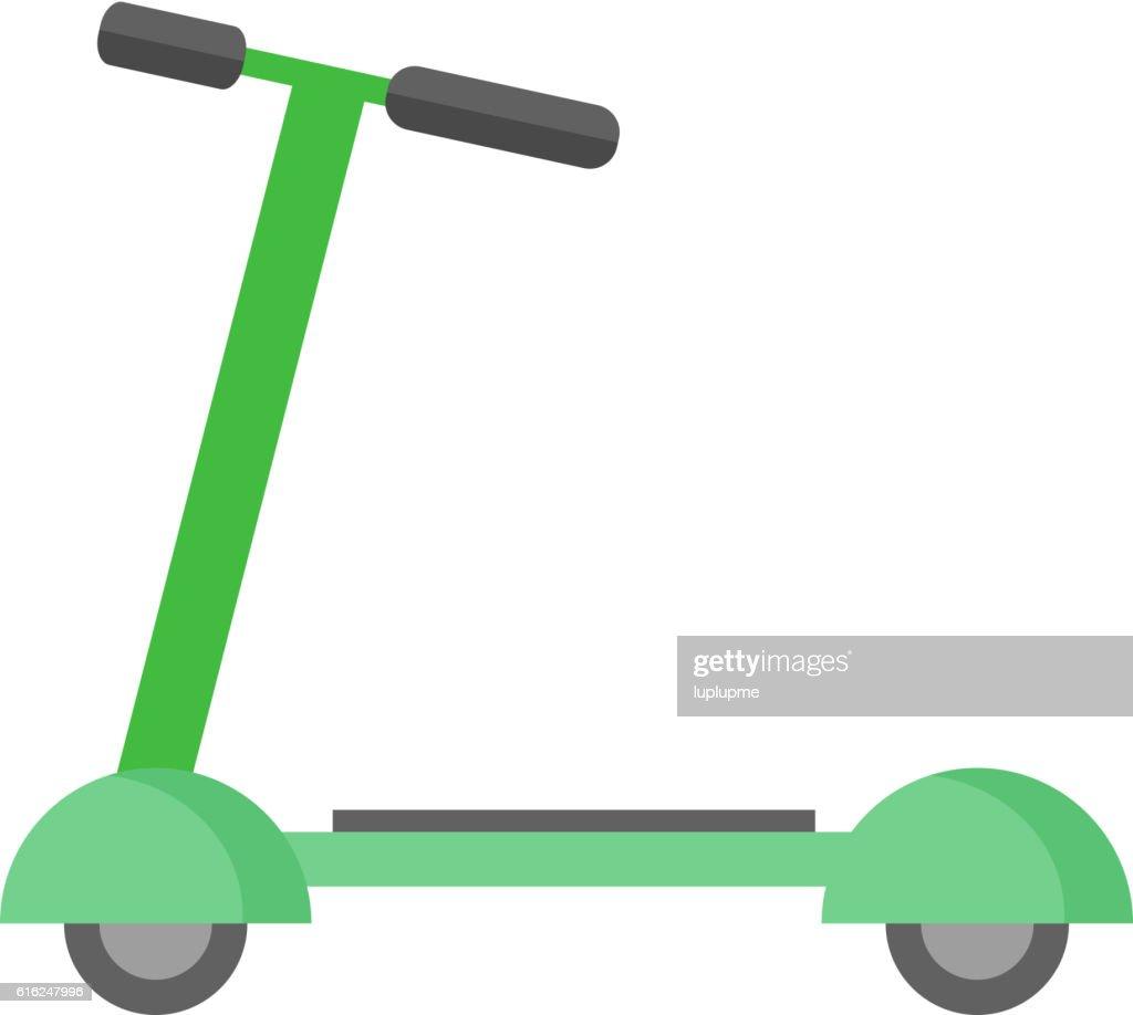 Push kick scooter vector illustration. : Arte vectorial