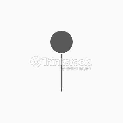push pin icon vector art thinkstock