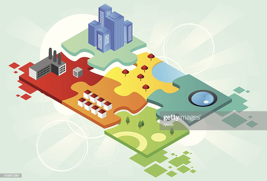 Puzzle city : Vector Art