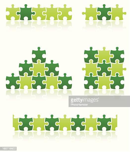 puzzle piece people set