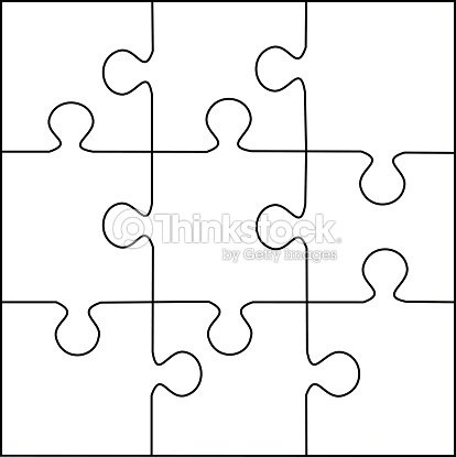puzzle template 9 pieces vector vector art thinkstock
