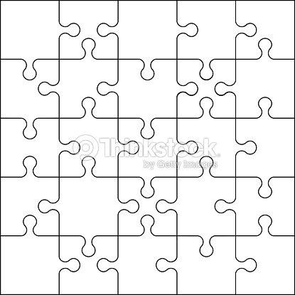 Plantilla de rompecabezas de 15 piezas para niños