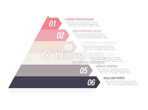 pyramid infographic template with six elements vector art thinkstock