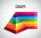 pyramid infographic design, vector illustration eps10 graphic