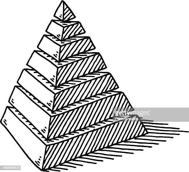 Pyramid Layers Abstract Drawing