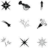 pyrotechnic icon set