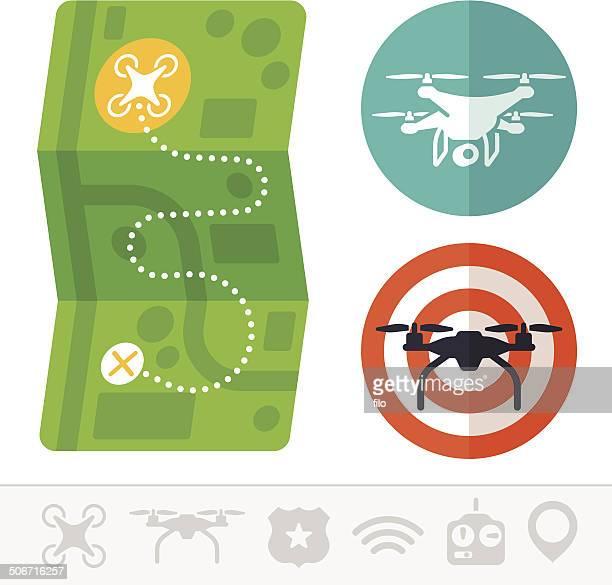 Quadcopter Drone Symbols