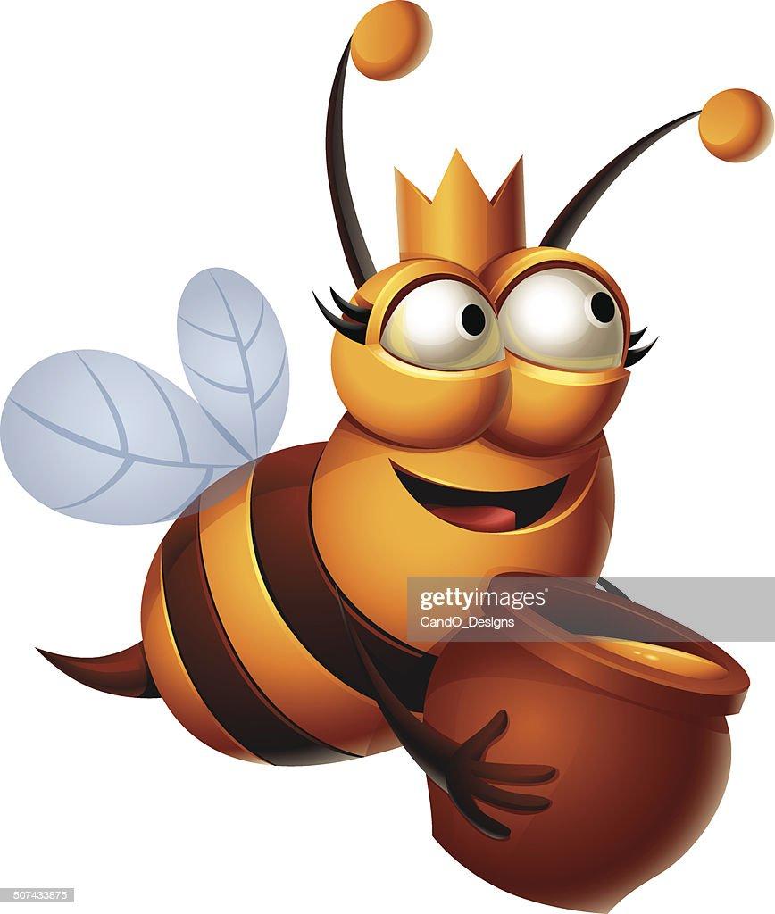 queen bee honey vector art getty images