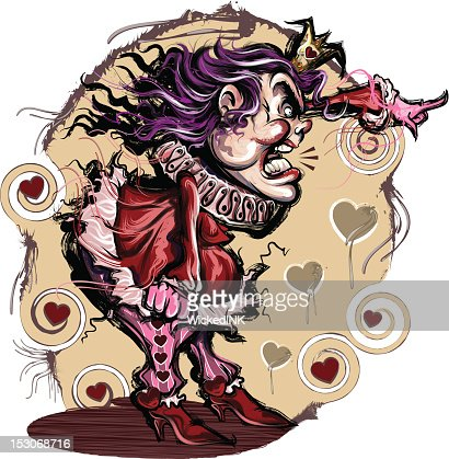 Queen of Hearts : Vector Art