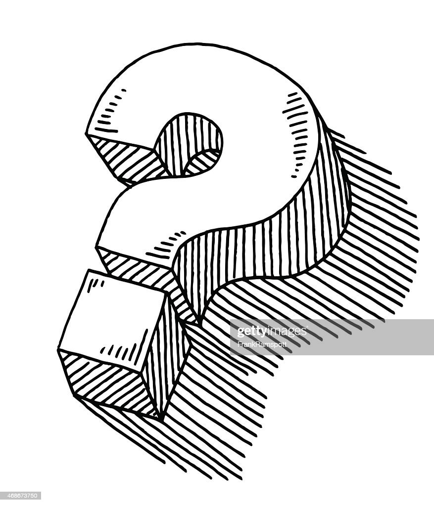 Coloring pages question mark - Question Mark 3d Symbol Drawing Vector Art