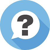 Question sign icon. Flat Design vector icon