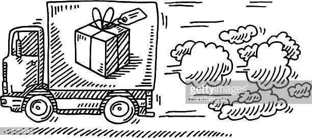Quick Delivery Truck Gift Box Drawing