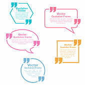 Quotation. Quotation speech bubbles set. Testimonial sign Vector
