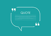 Quote blank speech bubble abstract bright design. Vector background
