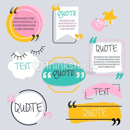 quote blank template design elements circle business card paper