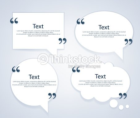 quote bubble frames templates set vector art thinkstock