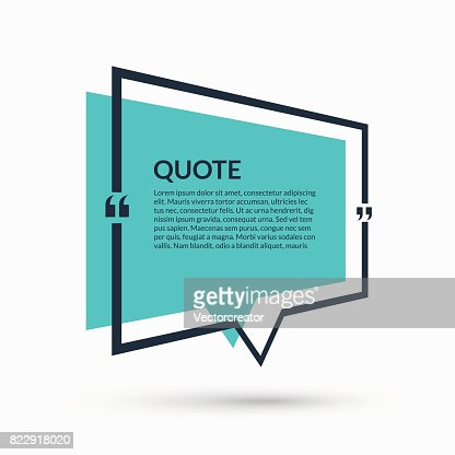 Quote Speech Bubble Blank Template Text In Brackets Citation Empty